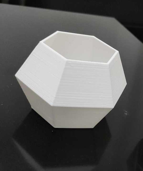 Hexagon Hegzagon Oragnik Plastikten Saksı Dekoratif Masaüstü