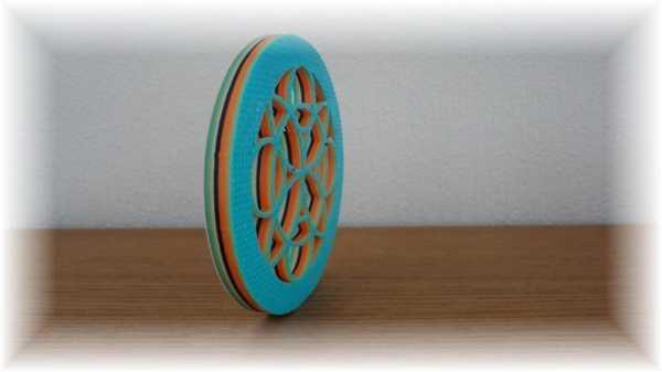3D Renkli Çiçek Mandala Plastik Aparat