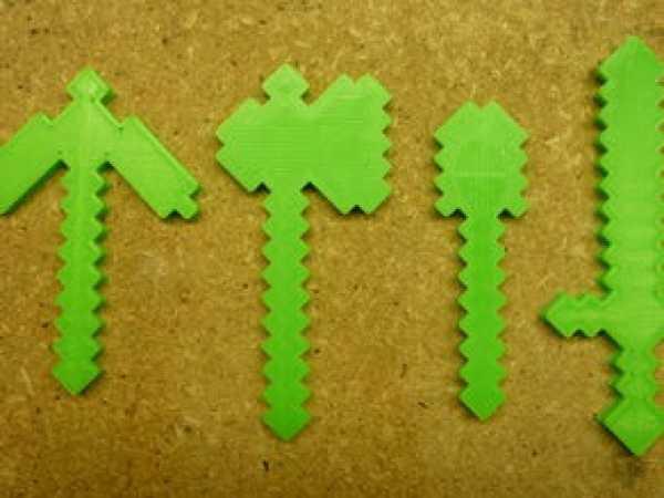 Minecraft Araçları: Kazma, Balta, Kürek, Kılıç Oyuncak