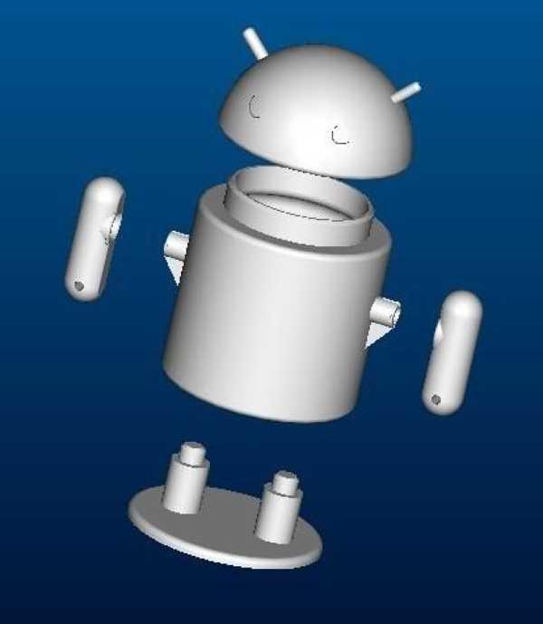 Andriod Robot Plastik Aparat