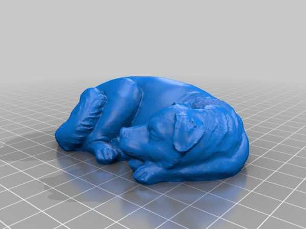 Uyuyan Köpek Biblo Heykel Dekoratif Hediyelik
