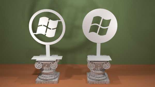 Modern Windows Logosu Plastik Aparat