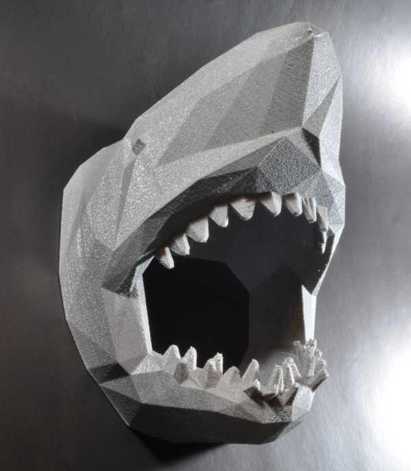 Cubify Köpekbalığı Model Figür  Hediyelik Dekoratif Süs Eşyası