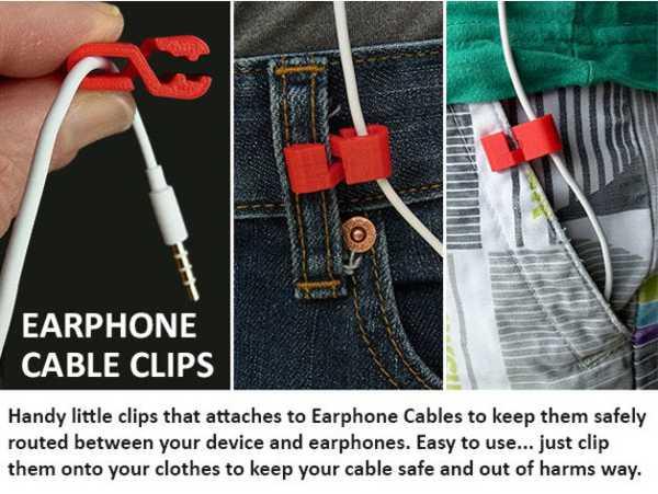 Toptan Kablolu Kulaklık Pratik Kablo Sabitleme Aparatı Clipi