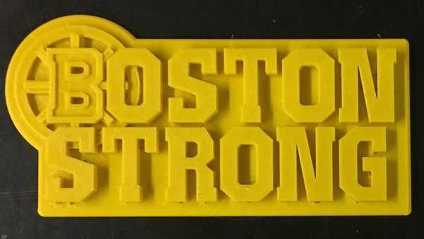 Bruins Boston Strong Logosu Organik Plastikten Dekoratif