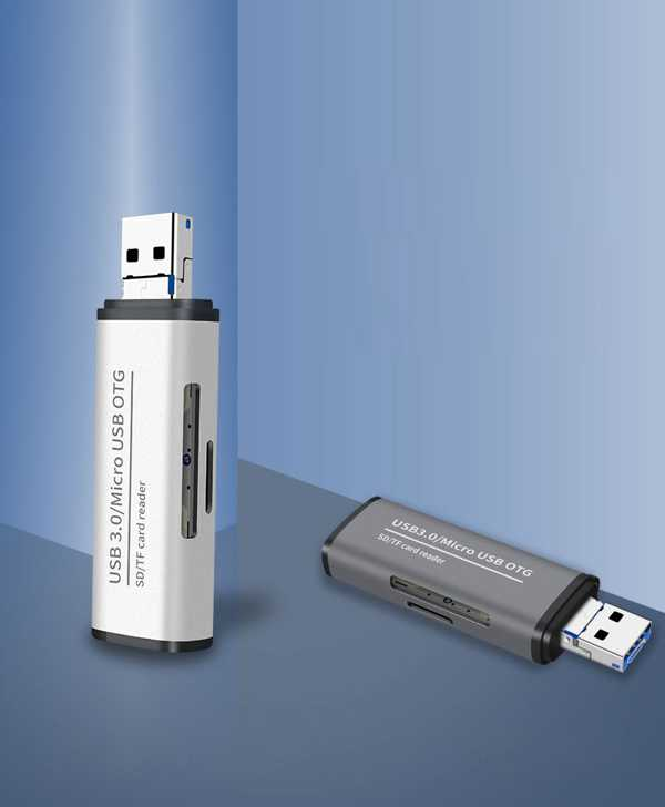 ADS-102 USB 3.0 Micro-usb TF SD Kart Okuyucusu ENT Card Reader