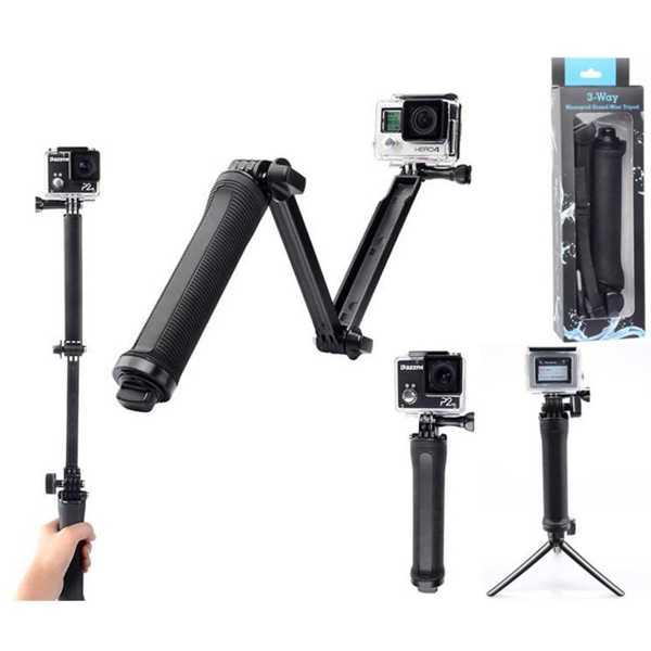 3 Fonksiyonlu Monopod Tripod Stand Mini Selfie Kamera Aparat