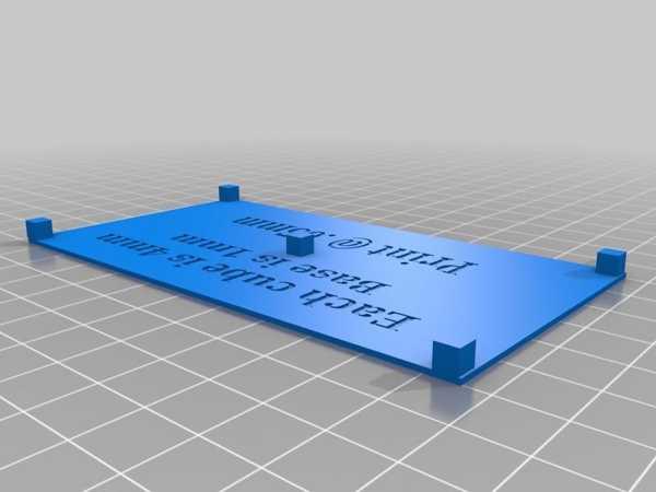 Anycubic Photon Kalibrasyon Plakası Plastik Aparat