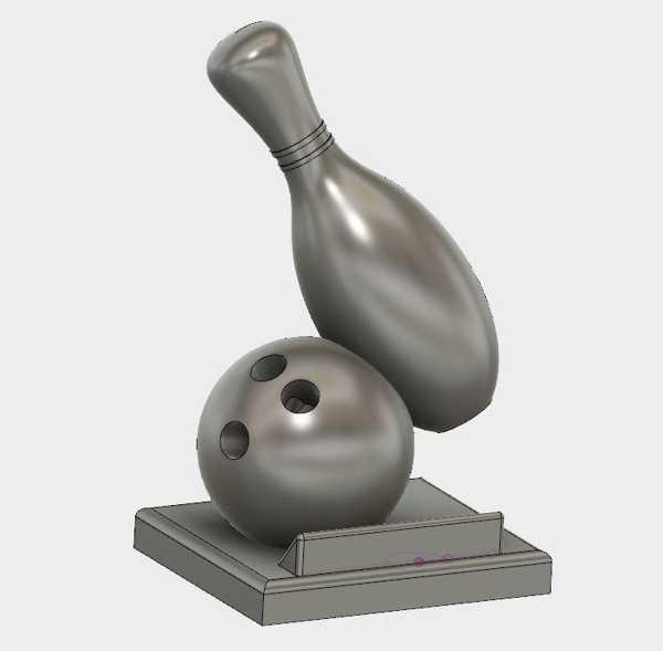 Bowling kupası  Biblo Dekoratif Hediyelik Süs Eşyası Maket