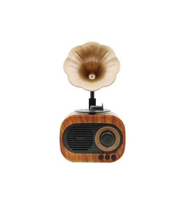 Nostaljik Radyolu Bluetoothlu Müzik Kutusu AUX Şarjlı