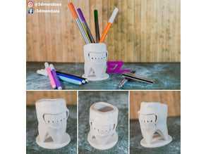 Diş kürü dağıtıcısı Kalemlik Organik Plastik Dekoratif Organizer