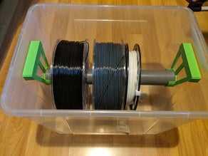 Filament Depolama olarak IKEA Collect kutusu  Organik Plastikten