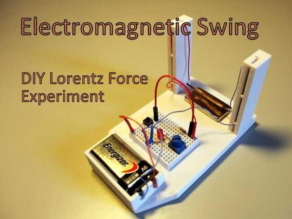 Toptan Elektromanyetik Salıncak - Diy Lorentz Force Deneyi Plastik Aparat