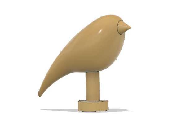 Kuş Organik Plastikten Biblo Dekoratif Hediyelik Süs Eşyası Maket