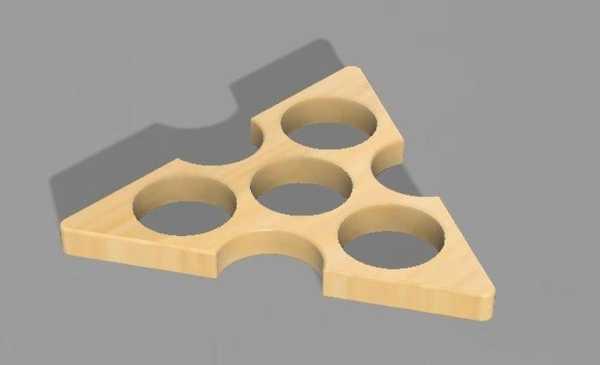 Üçlü Açı Fidget El Spinner Plastik Aparat
