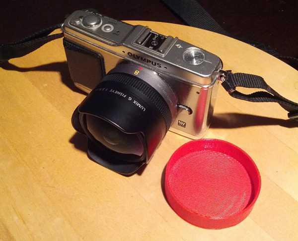 Lumix G Fisheye 8mm f3.5 lens için kapak  Organik Plastikten