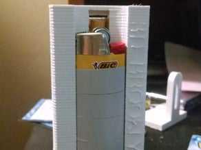 Sigara Çakmak Taşıma Kutusu Çakmaklık Basma Önleyici Koruyucu Cep