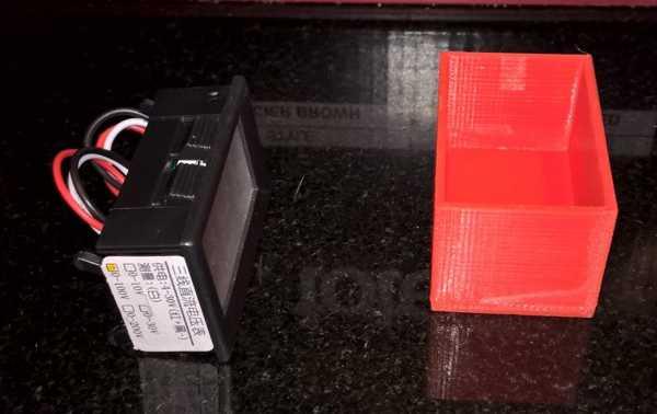 LED voltmetre için muhafaza plastik kutu