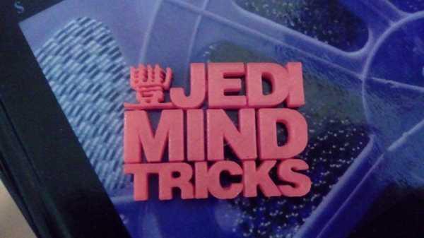Jedi Mind Püf Noktaları Logosu Plastik Aparat