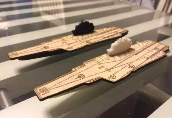 3D ve Lazer Kesimli Çin Uçak Gemisi Liaoning  Organik Plastik
