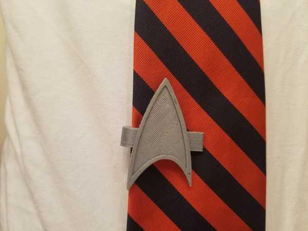 Star Trek Voyager iletişim rozeti kravat klipsi Süs