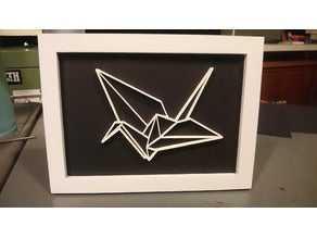 Origami Vinç Organik Plastikten Dekoratif