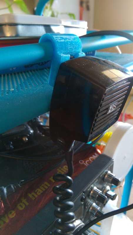Amatör Radyo Mikrofon Braketi Organik Plastik Tutucu Aparatı