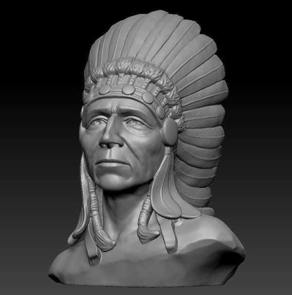 Amerka Yerlisi Amerikan Heykeli Dekoratif Biblo Dekor Hediyelik