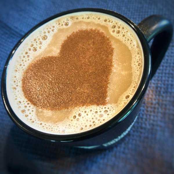 Kahve Stencil Kalp Stil Kalıbı Kalıp Sevgiliye Hediyelik Mutfak