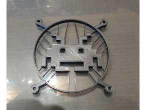 Space Invader Temalı Fan Kapağı  Aparatı Aksesuar Dekoratif