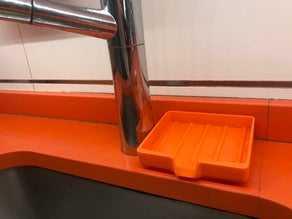 Mutfak Süngerlik Su Akıtma Bez Koyma Aparatı Mutfak Düzenleyici