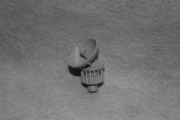 Mini Döner İletişim Çanağı Aparatı Süs Eşyası Aksesuar Dekoratif