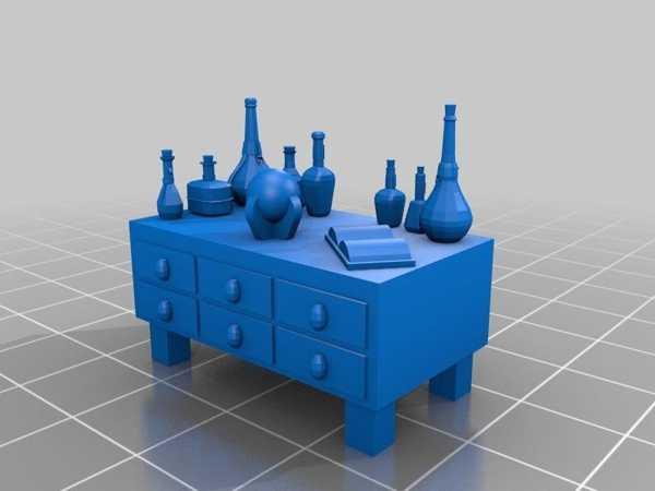 Toptan Simyacı Masası Biblo Dekoratif Hediyelik Süs Eşyası Maket