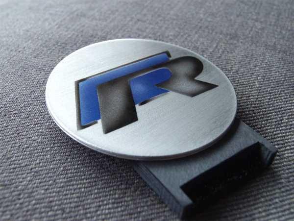 Vw R-Line Logo Şablon Plastik Aparat