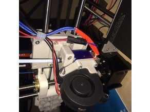 E3D v6 Üfleyici Fan Adaptörü Organik Plastikten Aksesuar