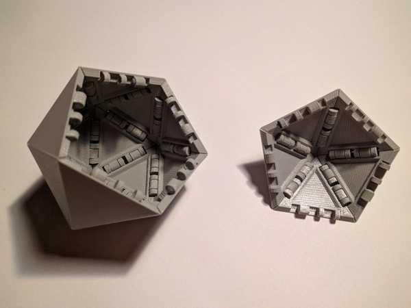 Birlikte geçmeli Icosahedron Biblo Dekoratif Hediyelik Süs Eşyası