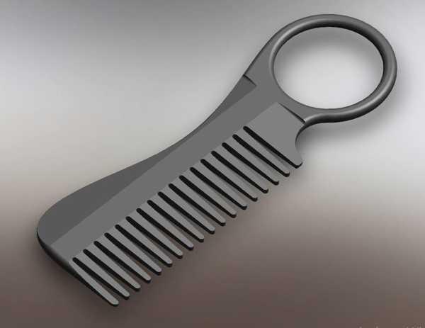Bıyık Saç Şekillendirici Fön Tarak Organik Plastik Anahtarlık