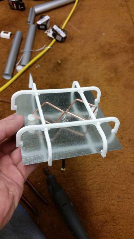 2.4Ghz Biquad için koruyucu (doğrusal polarize)  Aparat