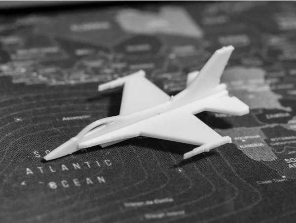 F16 Şavaş Uçağı Kart Kit Biblo Uçak Maket Çocuk Eğitici Oyuncak