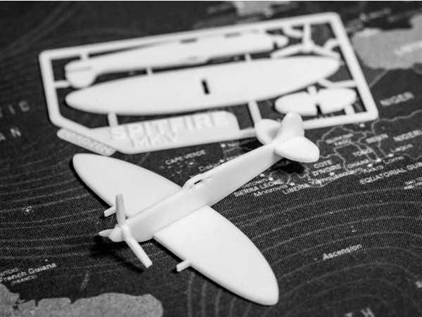 Maket Uçak Biblo Dekoratif Dekor Spitfire MK.V Kit  Hediyelik