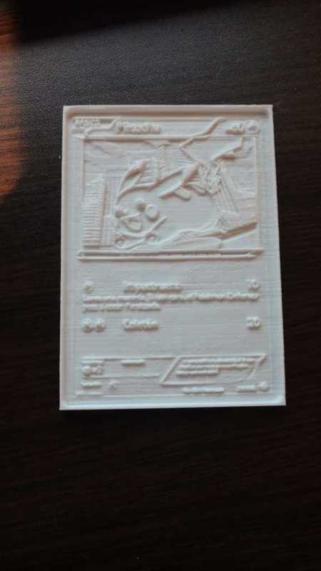 Pokemon card Lithophane (Pikachu) (İspanyolca) Dekoratif