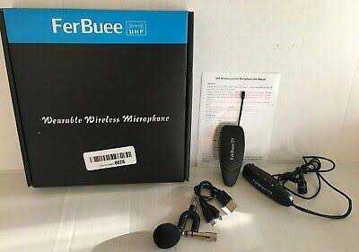 Ferbuee Giyilebilir Takılabilir Kablosuz Wireless Mikrofon