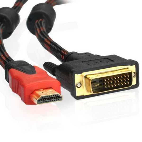 Hdmi to Dvi Cable Örgü Kablo (24+1) Görüntü Aktarım Dönüştürücü