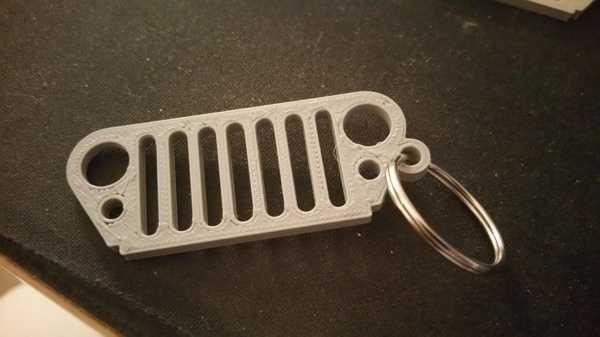 Remixed Jeep Grille Anahtarlık Anahtar Tutucu Organik Plastikten