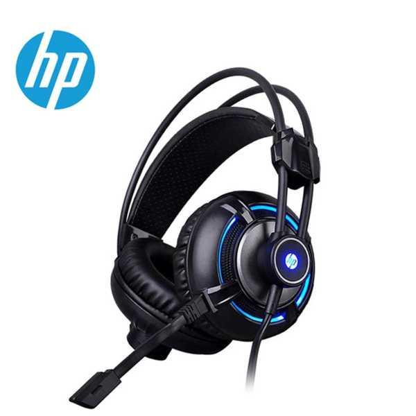 HP H300 Oyuncu Kulaklık, Kulak Üstü Mikrofonlu Ses Kontrol ve LED