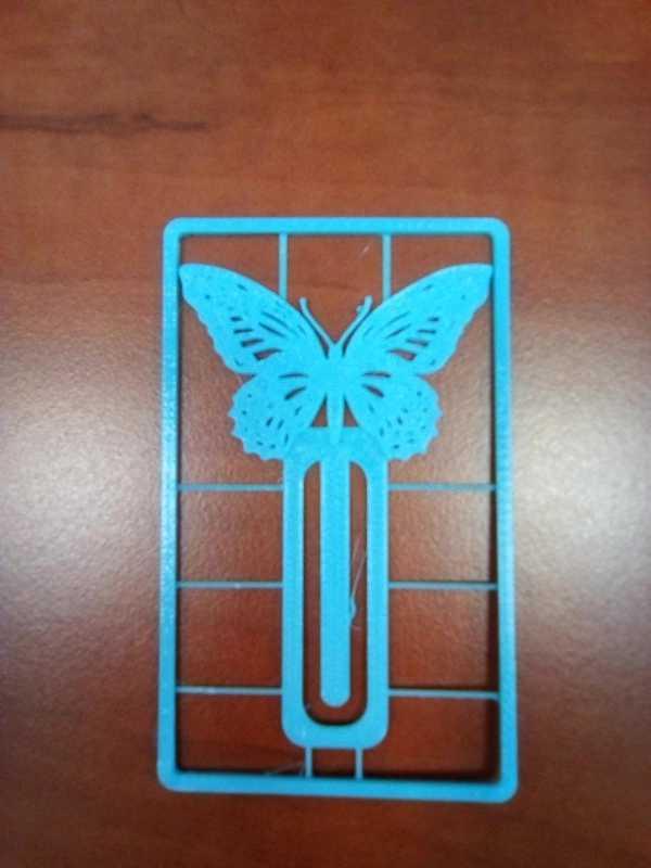 Kelebek Şeklinde Kitap Ayracı Bookmark Süslü Dekoratif
