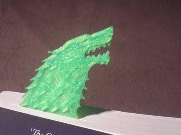 Toptan GOT Stark Direwolf Sigil Kitap Sayfa Ayracı Tutucu Bookmark
