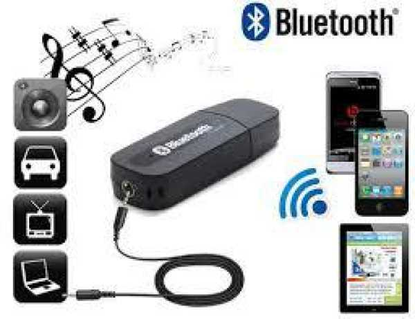 USB Bluetooth Stereo Music Receiver 3.5mm Adapter Dongle