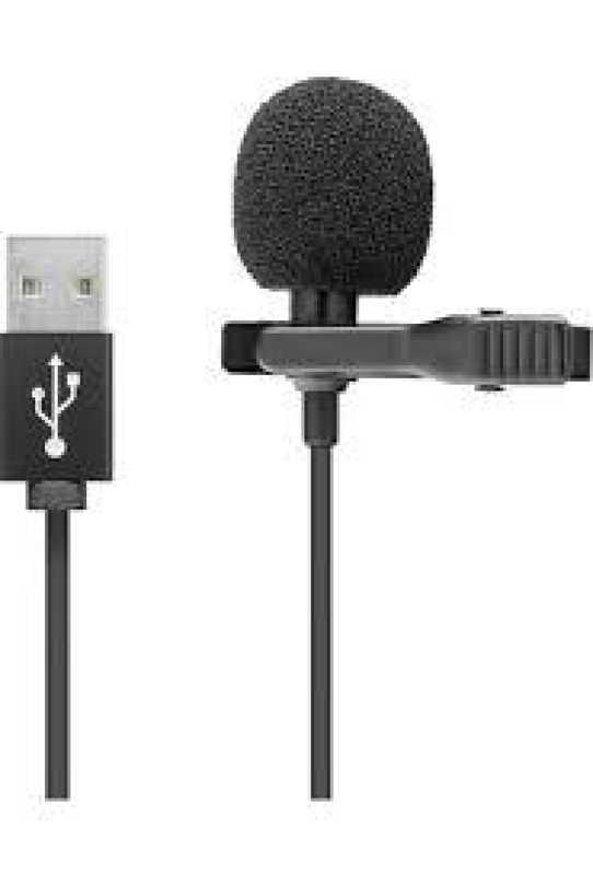 Yaka Mikrofonu Taşınabilir Profesyonel Ses Kayıt USB 1.5 m Kablo