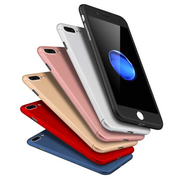 iPhone 6 - 6 S Plus 7 - 7 Plus Kılıf 360 Derece Tam Ekran Koruma